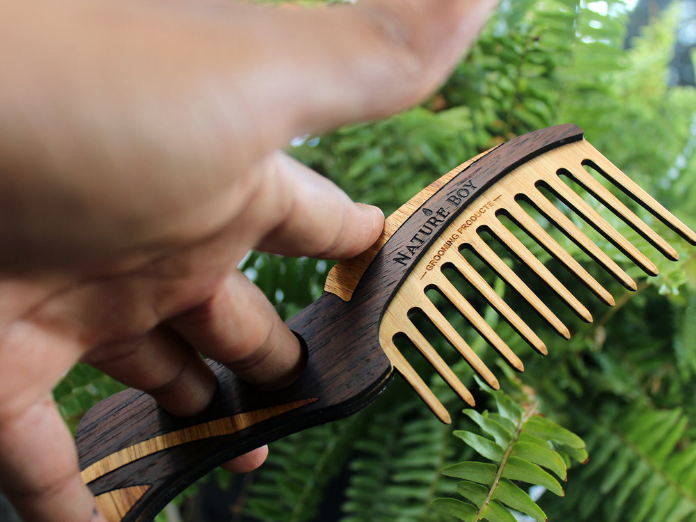 NATURE BOY Modified Wooden Beard Comb