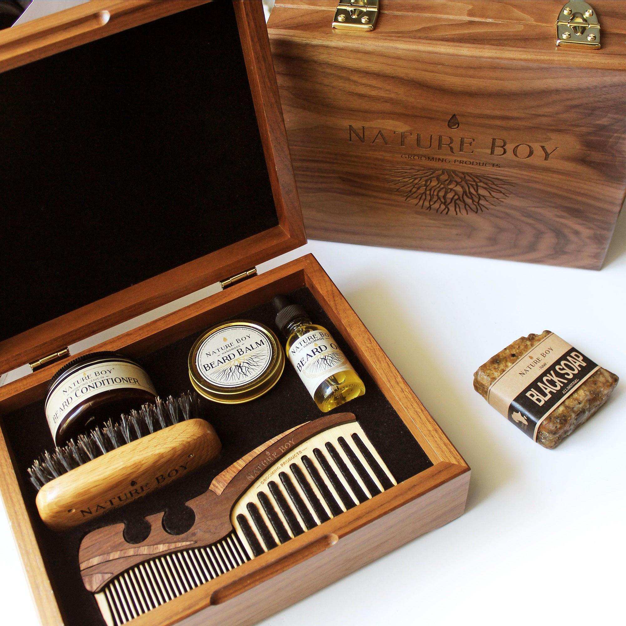NATURE BOY Deluxe Beard Kit w/ Connoisseur's Grooming Box (PRE-ORDER)