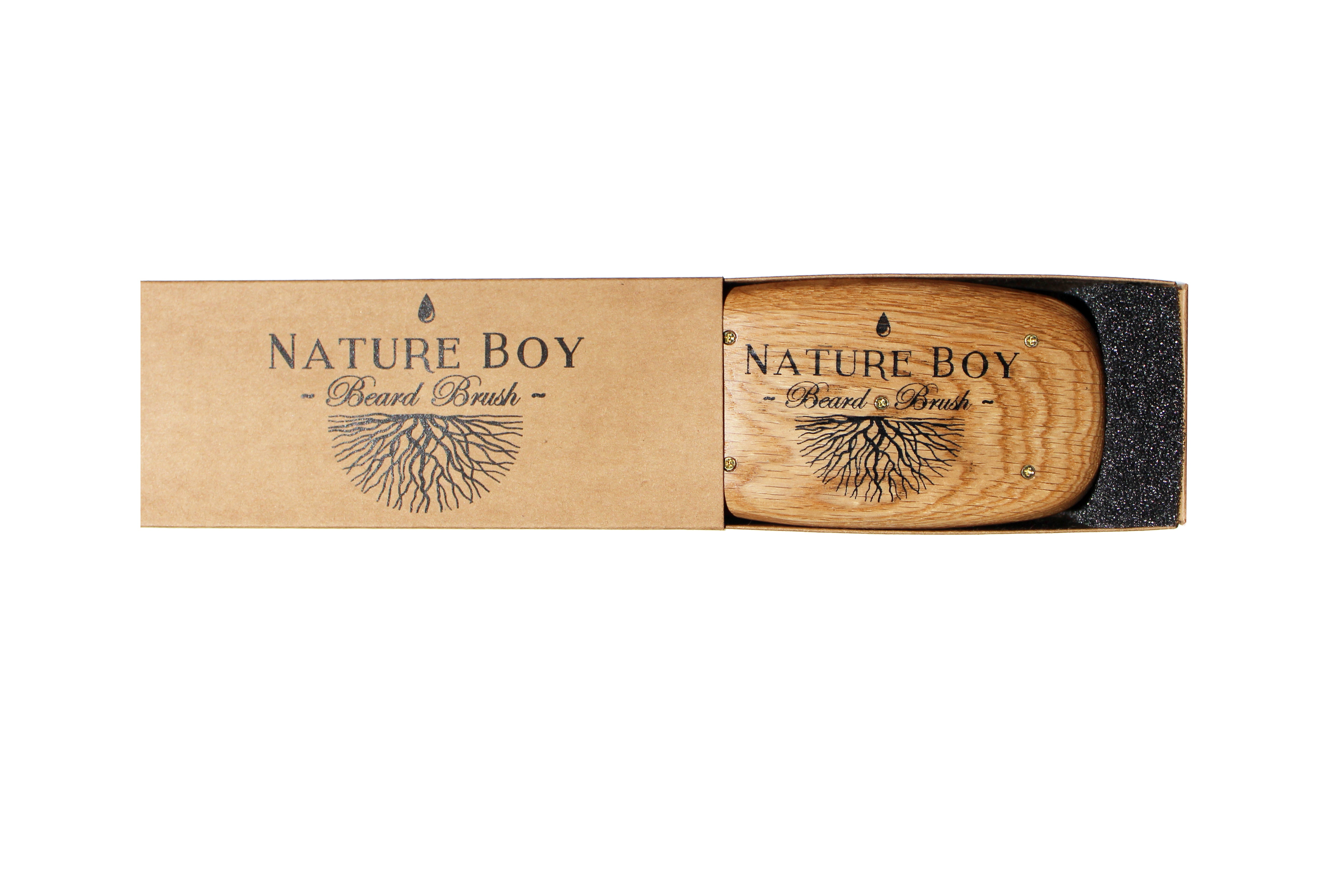 NATURE BOY Classic Firm Bristle Beard Brush