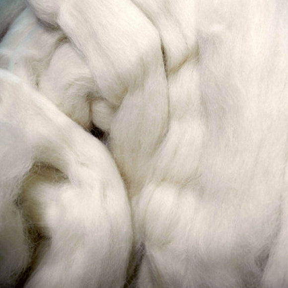 Alpaca Fiber Roving Top, Undyed Superfine Natural White, 100 grams, 3.52 Oz. OEKO-TEX®, Organic, GOTS