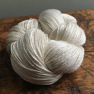 Undyed Natural White  Merino Silk Yarn, 3 Ply, 50 Gram, Fingerling Weight, Knitting, Crochet, OEKO-TEX® Certified