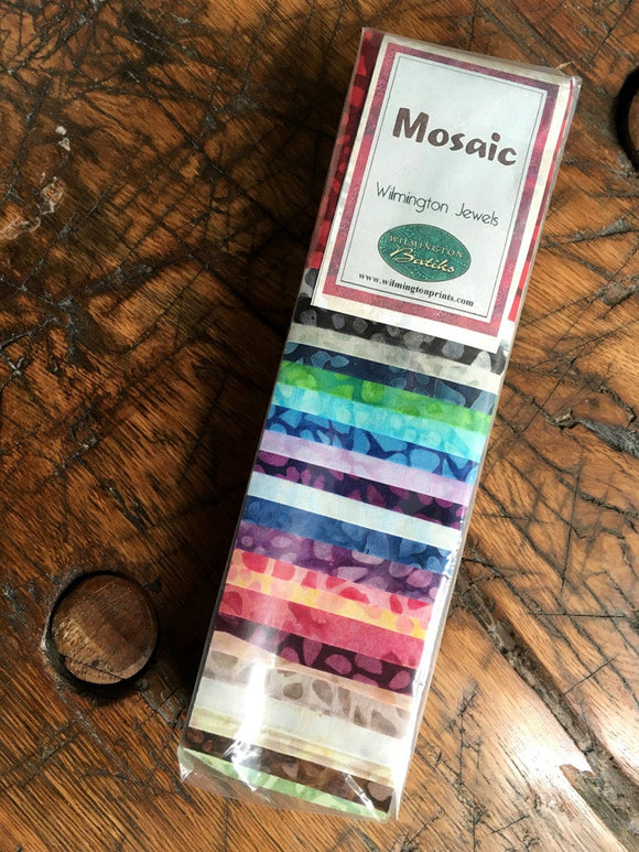 Wilmington Batiks Q801-26-801 Mosaic, Jelly Roll, Rollup, Batik Quilting Strips