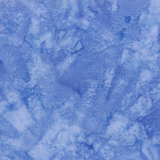 Hoffman Fabrics #248 Cancun, Blue, 1895 Bali Watercolors Batik, Cotton, Quilting Fabric