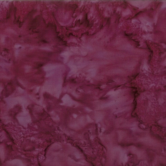 Hoffman Fabrics #328 Bergen, Red Wine, 1895 Bali Watercolors Batik, Cotton, Quilting Fabric