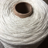 1 Kilo Cone, Undyed Natural White  Merino Silk Yarn, 3 Ply, Fingerling Weight, Knitting, Crochet, OEKO-TEX® Certified