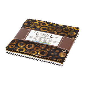 Kaufman Batik Charm Squares, Multicolored, CHS-841-42, Rings and Dots