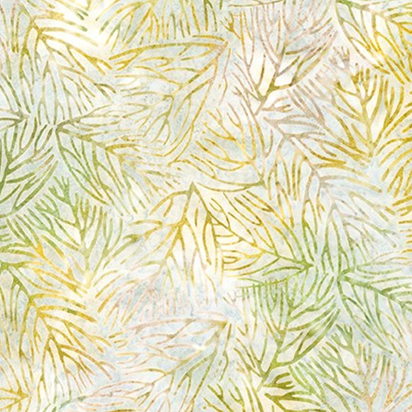 AMD-19762-270 Meadow, Kaufman Batik, Gold Green, Cotton Batik Quilting Fabric