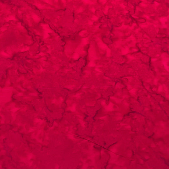 AMD-7000-343 Valentine, Kaufman Prisma Dyes, Red, Cotton Batik Quilting Fabric