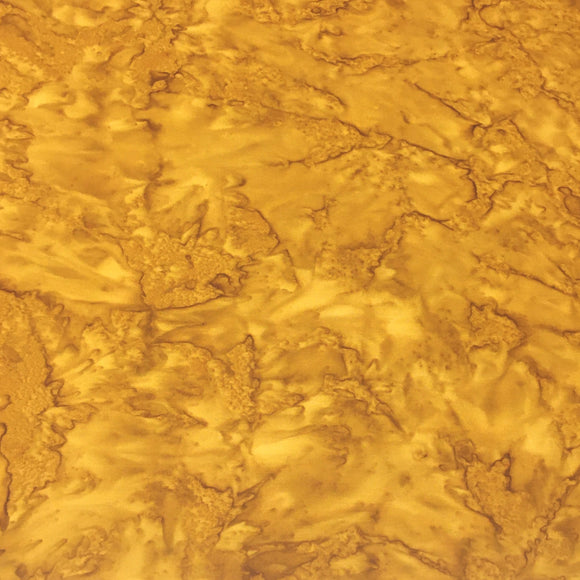 AMD-7000-126 Ochre, Kaufman Prisma Dyes, Yellow Brown, Cotton Batik Quilting Fabric