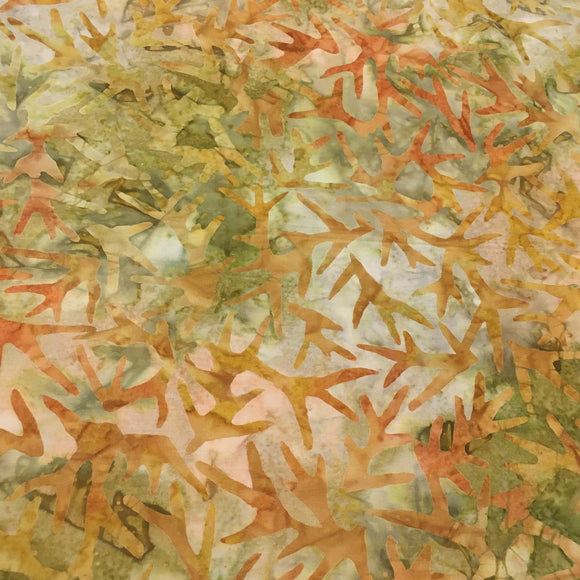 AMD-19766-270 MEADOW, Kaufman Batik, Gold Brown, Cotton Batik Quilting Fabric