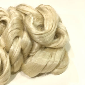 Tussah Silk Fiber Top, Wild, Unbleached, Undyed, 1 Ounce