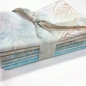 6 Fat Quarter Bundle of Yellow Blue Multi Print Batiks From Wilmington Batiks, FQ6Wil