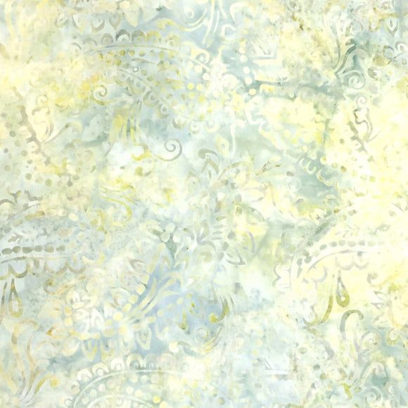 Wilmington Prints #22201-147, Multicolor Yellows, Greens and Blues Cotton Batik Quilting Fabric