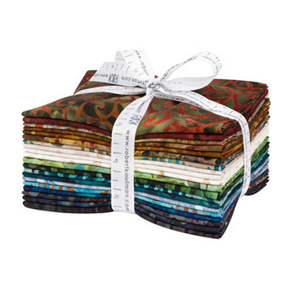 Kaufman Artisan Batik Fat Quarters, FQ-1599-20, By the Brook, Multicolor, Cotton Batik QUilting Fabric