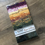 Island Batik Napa Valley, Multicolored Strip Pack, 20 Fabrics, 40 Strips.