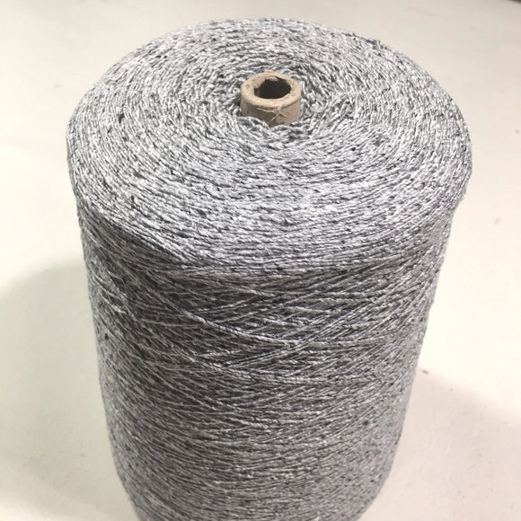 Hasegawa Top Dyed Silk Tweed Noil Yarn, Light Grey, 2 lbs 4.7 ounces with cone