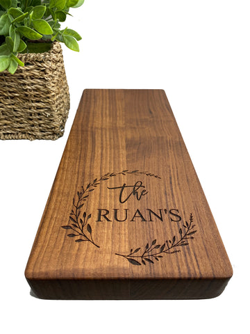 Walnut Engraved Cheese Board