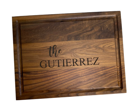 Double-Sided Walnut Engraved Cutting Board