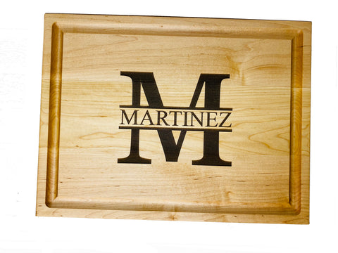 Double-Sided Maple Engraved Cutting Board