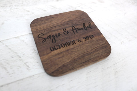 Names & Date Engraved Coasters