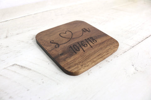Heart Engraved Coasters