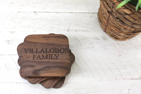 Family Engraved Coasters