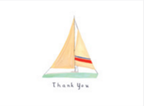Sailboat Thank You Card