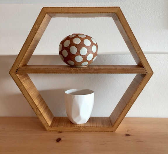 Hexagonal Wall or Table Shelf