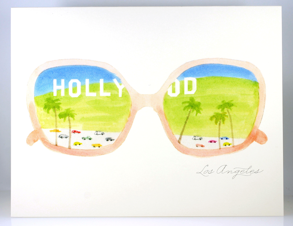 Hollywood Sunglasses Card