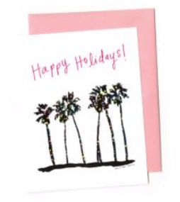 Happy Holidays Palm Tree Card