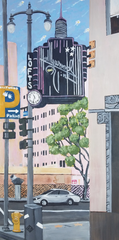 """Hollywood and Vine"" acrylic on canvas panel"
