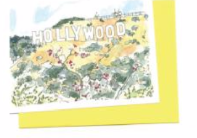 Hollywood Sign Card Card
