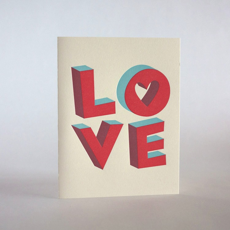 Fugu Fugu Press 3D Love Card