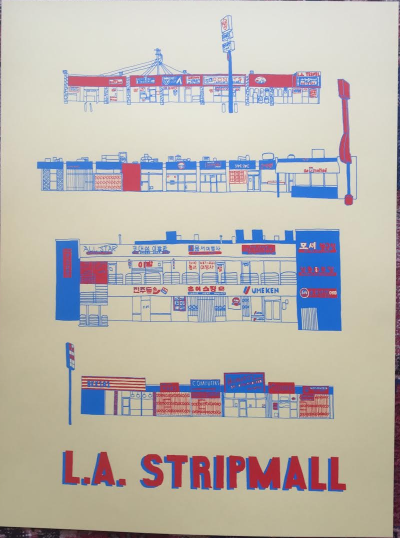 Strip Malls of Los Angeles Print