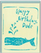 Whale Dude Birthday Card