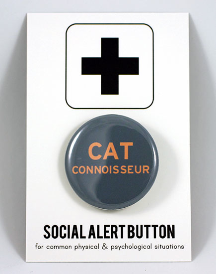 Cat Connoisseur Button