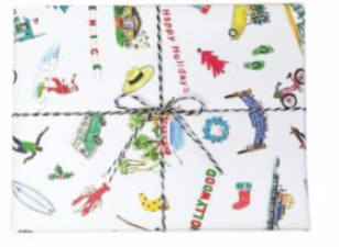 An L.A. Kind of Holiday Wrapping Paper Card