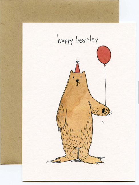 Happy Bearday Card