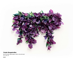 Purple Bougainvillea Sculpture