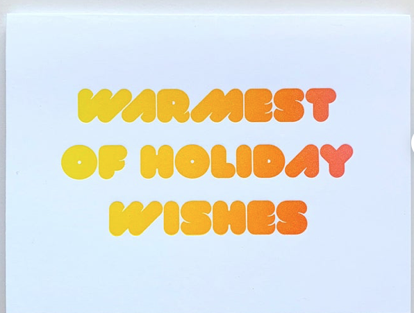 Warmest Holiday Wishes Card