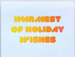 Warmest Holiday Wishes Card  Set of 4
