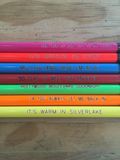 Los Angeles Song Lyric Pencil Set of 7