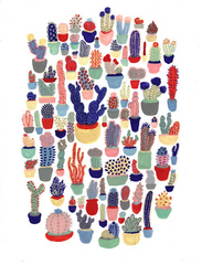 Many Many Cacti in this Catus Club Print