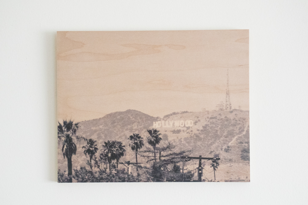 Hollywood Sign 8X10 Photo on Wood