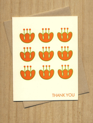 Fugu Fugu Press Thank You Tulips Card