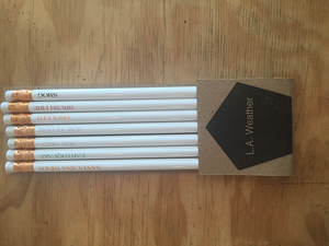 Los Angeles Weather Pencil Set of 7