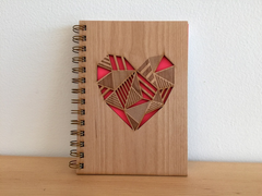 Heart Journal with a Wood Cover