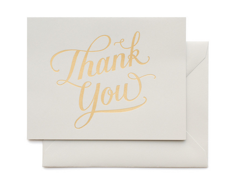 Calligraphy Thank You BOX SET of 6
