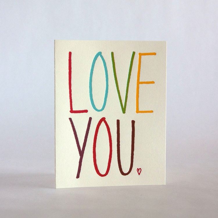 Fugu Fugu Press Love You Rainbow Card