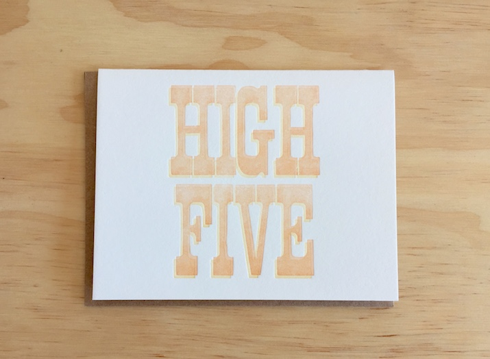 Give a HIGH FIVE!